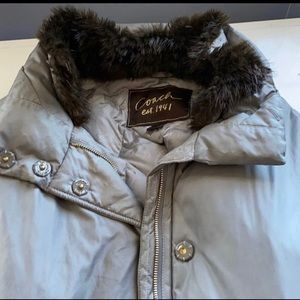 WINTER CLEARANCE!! Coach Coat with Real Fur Collar